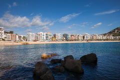 Blanes Town Skyline in Spain Stock Photo