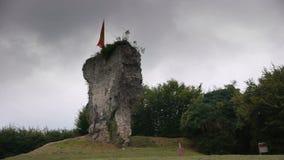 Blangy Le Górska chata ruina w Normandy Francja zdjęcie wideo