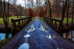 Мост над рекой Blanice стоковое фото rf