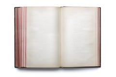 blank öppen bokhardback Fotografering för Bildbyråer
