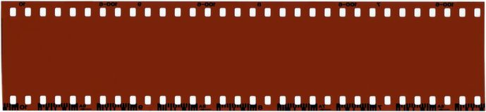 Blank 35mm Film. A strip of unused 35mm film Royalty Free Stock Photo