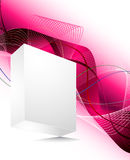 Blank 3d box with abstract background. Vector blank 3d box with abstract background Stock Image