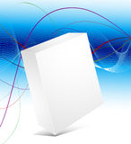 Blank 3d box with abstract background. Vector blank 3d box with abstract background Royalty Free Stock Photography
