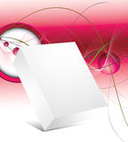 Blank 3d box with abstract background Stock Photography