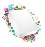Blank 3d box with floral Royalty Free Stock Photography