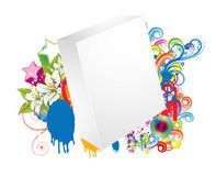 Blank 3d box with stars Stock Photography