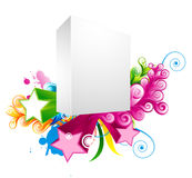 Blank 3d box with stars Royalty Free Stock Image