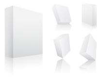 Blank 3d boxes Vectors Stock Images