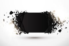 Blank Abstract Background. Black Banner with explosion effect and glow. Blank Abstract Background. Vector Black Banner with explosion effect and glow vector illustration