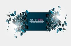 Blank Abstract Background. Vector Black Banner with explosion effect and glow. Blank Abstract Background. Vector Black Stock Photography