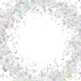 Blank abstract confetti ring background template with scattered circles. Vector graphic stock illustration