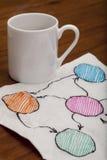 Blank abstract flowchart on napkin Royalty Free Stock Photo