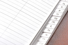 Blank Address Book Stock Images