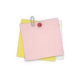 Blank Adhesive Paper Note Royalty Free Stock Photo