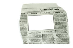 Blank Ads ready for commercial use Stock Photos