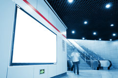 Blank Ads in Subway Station. Concept - ready for commercial use royalty free stock photography