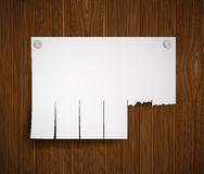 Blank ads on the wooden wall Royalty Free Stock Image