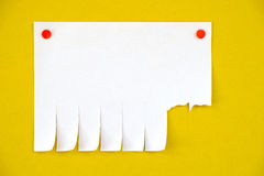 Blank ads on the yellow background Stock Image