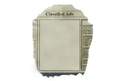 Blank advertisement Royalty Free Stock Images