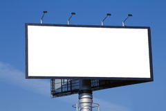 Blank advertisement billboard Royalty Free Stock Image