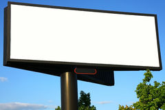 Blank advertisement billboard. Blank big advertisement billboard adn sky Royalty Free Stock Photos
