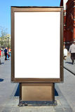 Blank advertisement hoarding. Put your own text or image here Stock Images