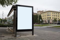 Blank advertisement mock up Stock Photo