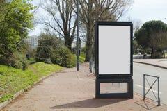 Blank advertisement mock up Stock Photography