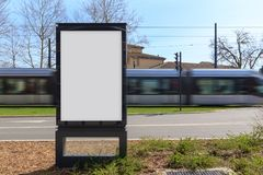 Blank advertisement mock up Stock Images