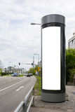 Blank Advertisement Sign City Urban Public White  Clippi. Ng Path Royalty Free Stock Photography