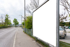 Blank Advertisement Sign City Urban Public White  Clippi. Ng Path Stock Photography