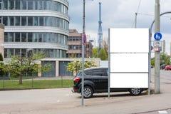 Blank Advertisement Sign City Urban Public White  Clippi. Ng Path Stock Photo
