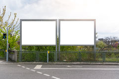 Blank Advertisement Sign City Urban Public White  Clippi Royalty Free Stock Photos