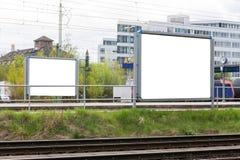 Blank Advertisement Sign City Urban Public White  Clippi. Ng Path Stock Image