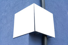 Blank Advertisement Sign City Urban Public White  Clippi. Ng Path Stock Images