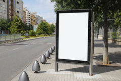 Blank advertisement in the street. For advertising Royalty Free Stock Photography