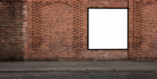 Blank advertising banner Stock Photo