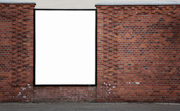 Blank advertising banner Royalty Free Stock Photos
