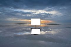 Blank advertising at the beach Stock Photography
