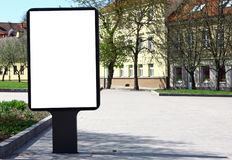 Blank advertising billboard Royalty Free Stock Photography