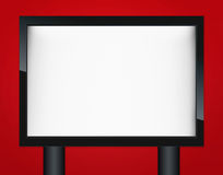 Blank advertising billboard Stock Photo