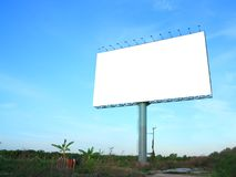 Blank advertising billboard Royalty Free Stock Photo
