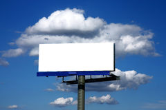 Blank advertising billboard. And sky with clouds Stock Image