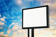 Blank advertising billboard against sky Royalty Free Stock Photo