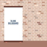 Blank Advertising Billboard On Brick Wall Royalty Free Stock Photos