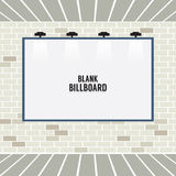 Blank Advertising Billboard On Brick Wall Stock Image