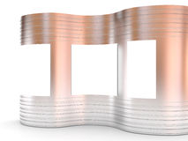 Blank advertising billboard curve abstract Royalty Free Stock Image