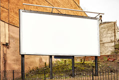 Blank advertising billboard Stock Images