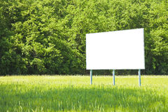 A blank advertising billboard Royalty Free Stock Image