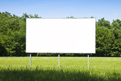 A blank advertising billboard immersed in a wheat field Stock Photography